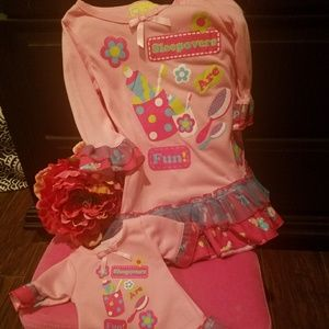 Girl Nightgown and Matching Doll Nightgown